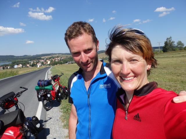 Maria & Oliver in der Nähe des Lipno Stausees in Tschechien